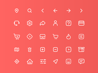 Icon Set For Savetime App