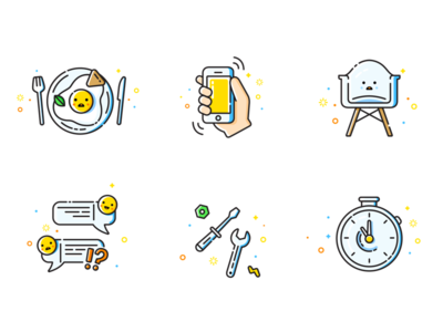 Foodberry App illustrations