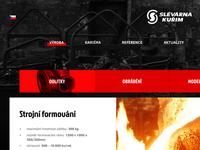 Slevarna Kurim - Foundry Website