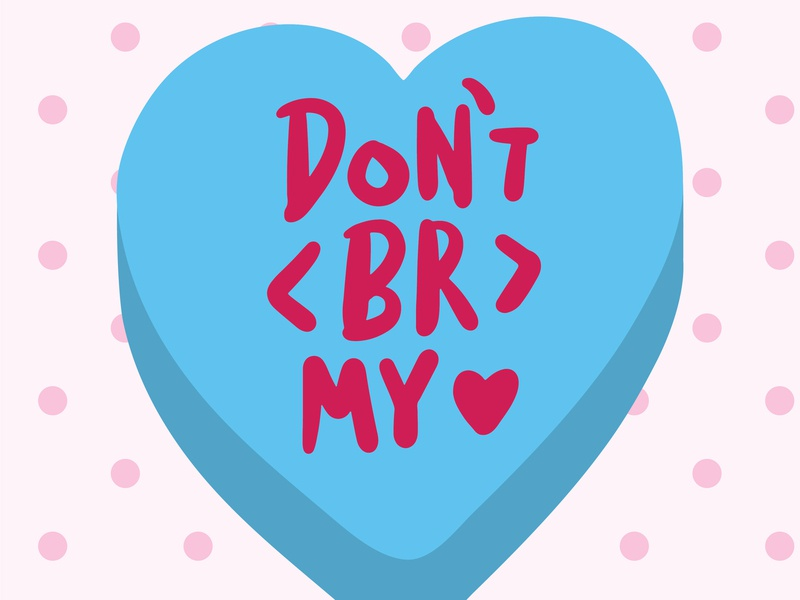 Candy hearts for graphic designers 2 heart procreate conversation heart lettering
