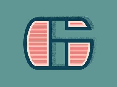 36 Days of Type: Number 6 lines vector lettering number