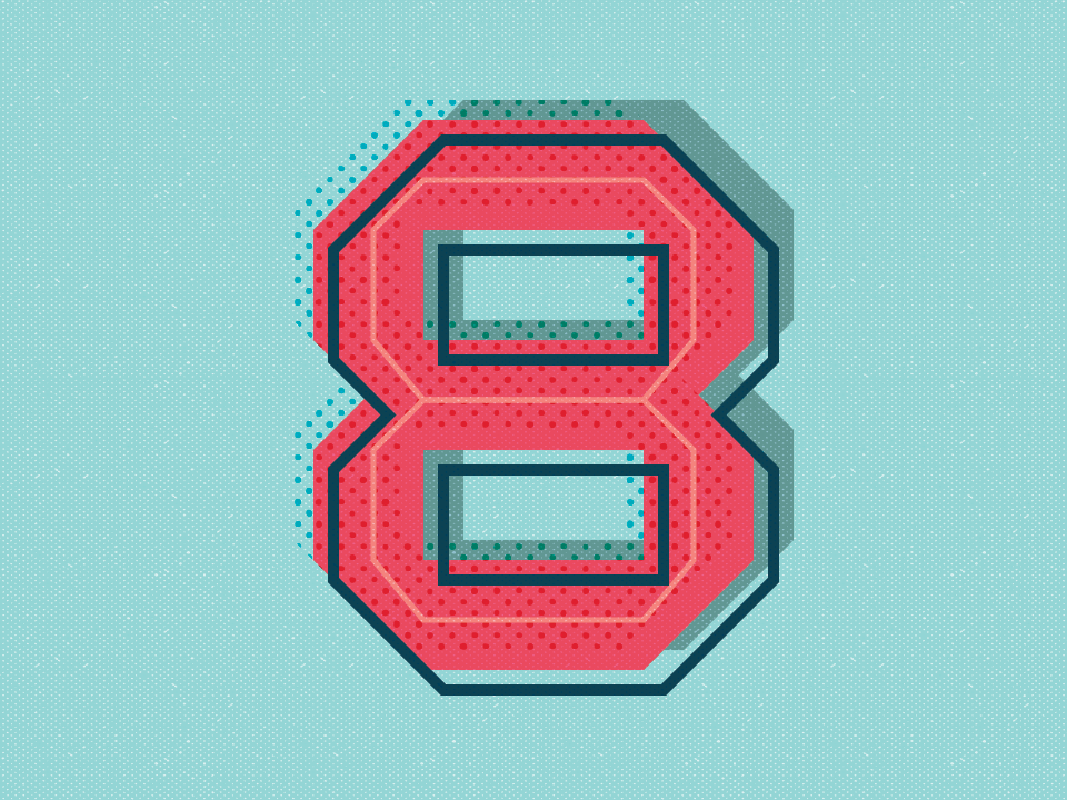 36 Days of Type: Number 8 vector sanserif lettering number