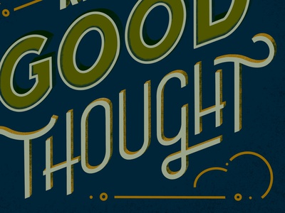 Keep a Good Thought texture sans serif dimension outline procreate ipad lettering