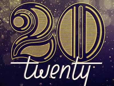 2020 decorative foil monoline script serif lettering