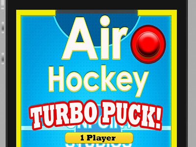 Airhockey game menu screen