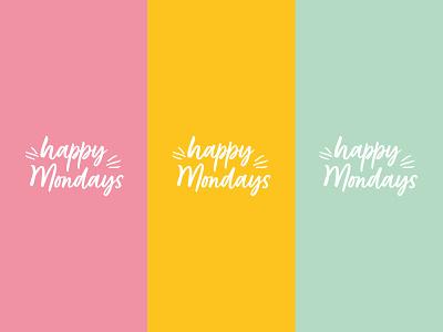 Happy Mondays logo submark vector logo designer brand design branding brand identity design logo design logo