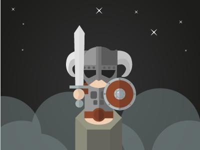 Skyrim Character 2d illustration pawn character games skyrim design flat illustrator vector