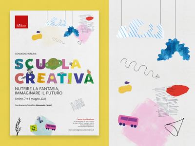 Scuola creativa - Poster design art children scuola creativa erickson convegno poster design