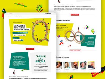 Convegno Qualità UI art identity front end website ui design