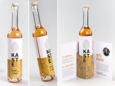 Grappa Kaste web-design visual branding brand-identity label-design label colors illustration graphic-design packaging