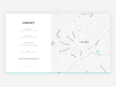 Contact card location - ADAES location map institution card contact space