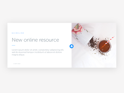 New post resource UI minimalist simple design ui resource post