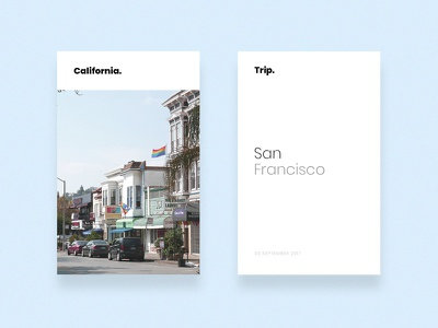 San Francisco Card - Californian Road Trip photo ueno castro peace trip san francisco photography photo california card