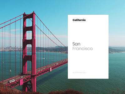 San Francisco Card - California Road Trip photo card california photo photography san francisco trip peace castro ueno