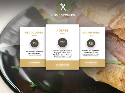 MIF UI french food ux photoshop maquette maquettage design web ui