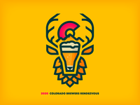 Colorado Brewers Rendezvous 2020 thick lines festival elk mountain logo beer colorado