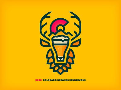 Colorado Brewers Rendezvous 2020 thick lines festival elk mountain logo beer colorado