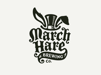 March Hare Brewing tophat rabbit march hare brewery logo