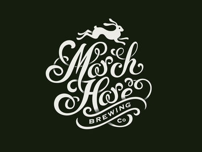 March Hare typography lettering rabbit logo brewery