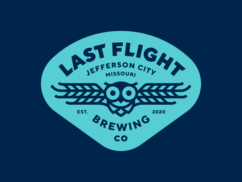 Last Flight Brewing beer owl brewery logo