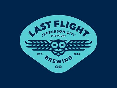 Last Flight Brewing beer owl brewery logo
