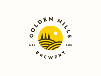 Golden Hills Brewery hills golden beer brewery logo