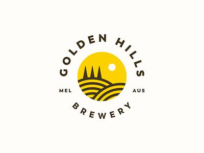 Golden Hills Brewery hills golden beer brewery logo