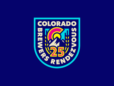 Colorado Brewers Rendezvous 2021 design colorado beer logo