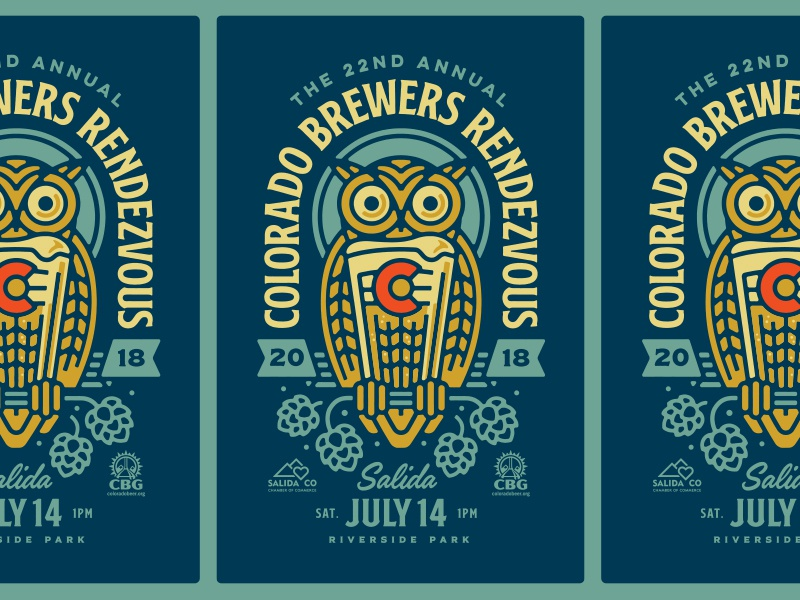 Colorado brewers rendezvous 22 poster