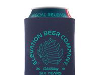 Elevation beer co anniversary koozie