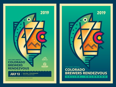 Colorado Brewers Rendezvous 2019 colorado poster festival beer