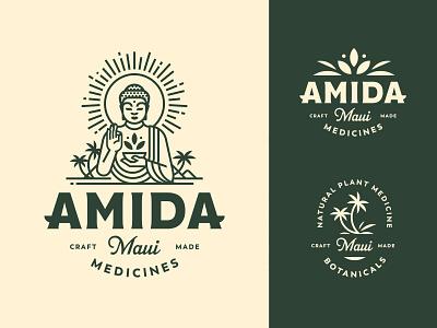 Amida Maui Logo ui craft apothecary maui lines logo