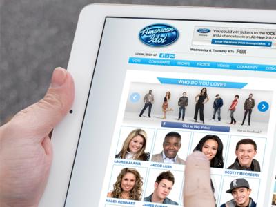 American Idol Interface Design