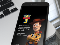 Disney Pixar Toy Story 3 Mobile App Design