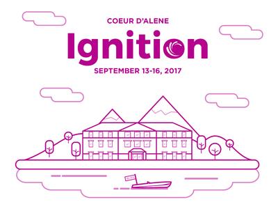 Ignition Branding Concept illustration icon line ux branding concept