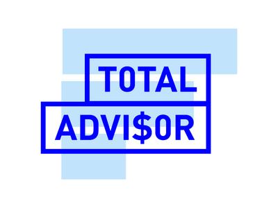 Total Advisor Branding #2 finance blue minimal logo branding