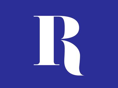 Letter R identity letter branding logo serif r