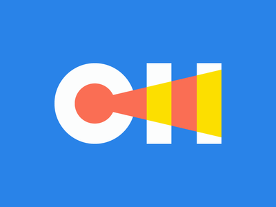 CH Logo Concept geometric minimal h c wip concept logo