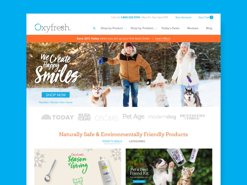 Oxyfresh Homepage ecommerce clean minimal homepage ui design web
