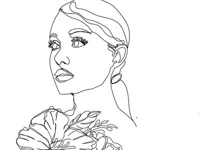 IMG 20210428 131744 266 artwork artist art line illustration line work black line hand drawn flowers face lines linework line art