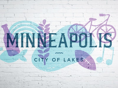 Minneapolis Logo + Mural