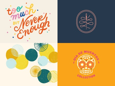 2018 - Top 4 Shots fun branding hand drawn hand lettering vector pattern color logo type lettering