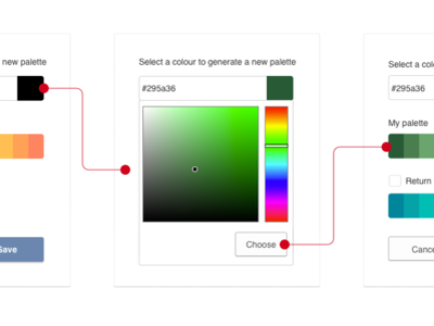Color palette generator for charts dialog box overlay hues gradient charts color palette generator color palette color picker colors color