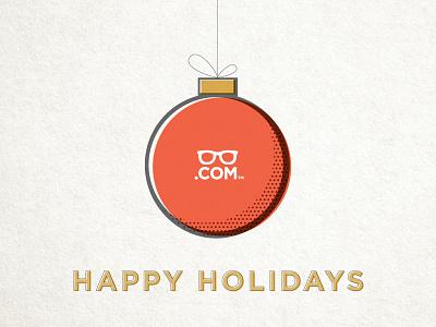 Holiday Card ornament christmas holiday glasses.com