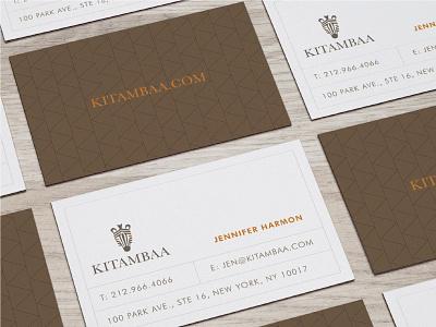 Kitambaa Business Cards design logo branding
