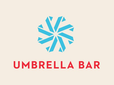 Umbrella Bar umbrella bar logo branding