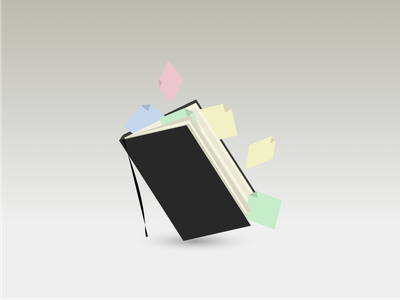 Moleskine sketchbook postits shadow sketching pad notes notebook moleskine illustration