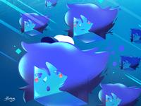 Bob swims