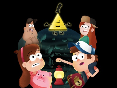 Gravity Falls : Into the Tree House disney digital photoshop gravity falls drawing fanart cartoon painting illustration digital painting cartoons