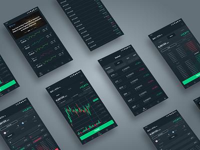 Exchange App - Triv Pro Concept crypto exchange token mobile ico exchange dashboard currency crypto trading crypto coin applicaiton app ux concept design ui